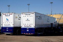Carlin Racing transporters
