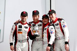 Victory lane, third place GTD: #48 Paul Miller Racing Lamborghini Huracan GT3: Madison Snow, Bryan S
