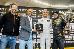 Winnaar David Coulthard, tweede plaats Petter Solberg, Fredrik Johnsson