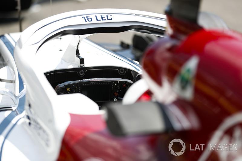 Charles Leclerc, Sauber C37, vue du cockpit