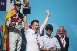 Allan McNish, Team Principal, Audi Sport Abt Schaeffler, celebran