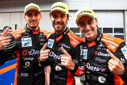 Ganadores de carrera Roman Rusinov, Andrea Pizzitola, Jean-Eric Vergne, G-Drive Racing