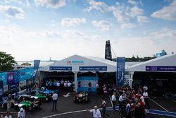 Lucas di Grassi, Audi Sport ABT Schaeffler, celebrates after the race in Parc Ferme