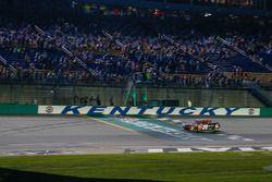 Christopher Bell, Joe Gibbs Racing, Toyota Camry Rheem checkered flag