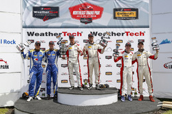 ST Podium, #73 MINI JCW Team, MINI JCW, ST: Mat Pombo, Mike LaMarra, #81 BimmerWorld Racing, BMW 328i, ST: Nick Galante, Devin Jones, #52 MINI JCW Team, MINI JCW, ST: Mark Pombo, Colin Mullan