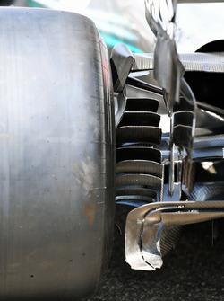 Mercedes-AMG F1 W09 rear brake duct detail