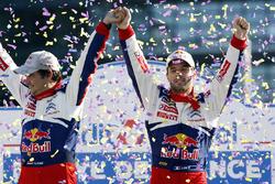 Les vainqueurs Sébastien Loeb, Daniel Elena, Citroën World Rally Team