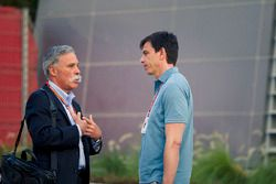 Chase Carey, Chief Executive Officer ed Executive Chairman del Formula One Group e Toto Wolff, Direttore del Motorsport Mercedes AMG F1