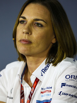 Claire Williams, Deputy Team Principal, Williams Martini Racing, in the team principals Press Conference