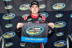 Ganador de la pole Noah Gragson, Kyle Busch Motorsports, Toyota