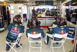 Triple Eight Race Engineering Holden team members at work