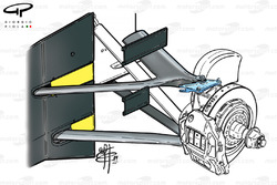 McLaren MP4-14 1999 front brake and suspension