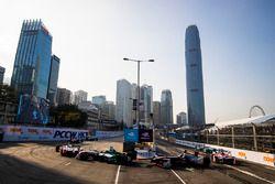 Lucas di Grassi, Audi Sport ABT Schaeffler leads Maro Engel, Venturi Formula E Team