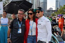 Mitch Evans, Jaguar Racing, on the grid