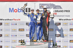 #81 BimmerWorld Racing, BMW 328i, ST: Nick Galante, Devin Jones celebrates the win on the podium