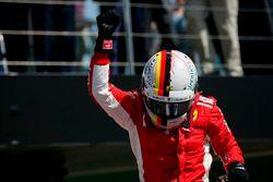 Race winner Sebastian Vettel, Ferrari, celebrates in Parc Ferme