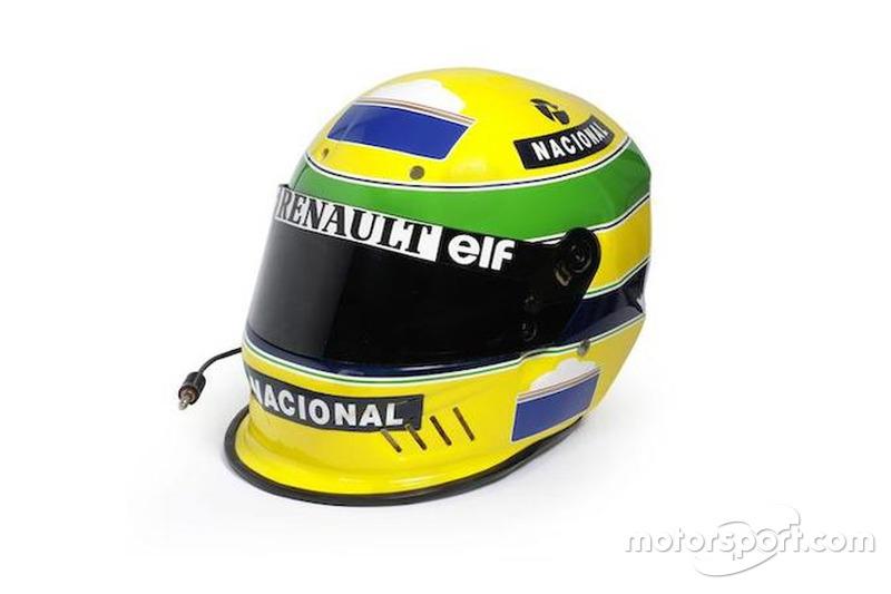 Detalhes do capacete de 1994 de Ayrton Senna em Le Mans