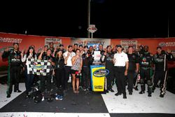 Ben Rhodes, ThorSport Racing, Ford F-150 Alpha Energy Solutions celebrates in victory lane