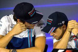 Lance Stroll, Williams y Felipe Massa, Williams en la Conferencia de prensa