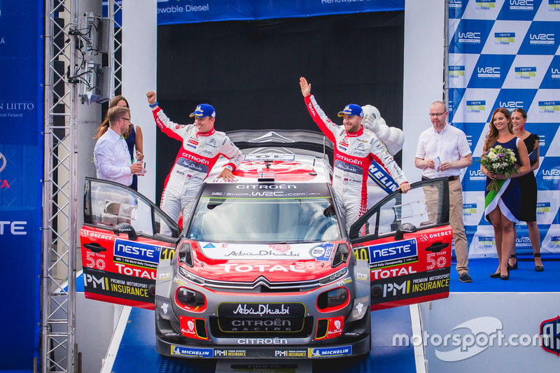 Al secondo posto Mads Ostberg, Torstein Eriksen, Citroën C3 WRC, Citroën World Rally Team