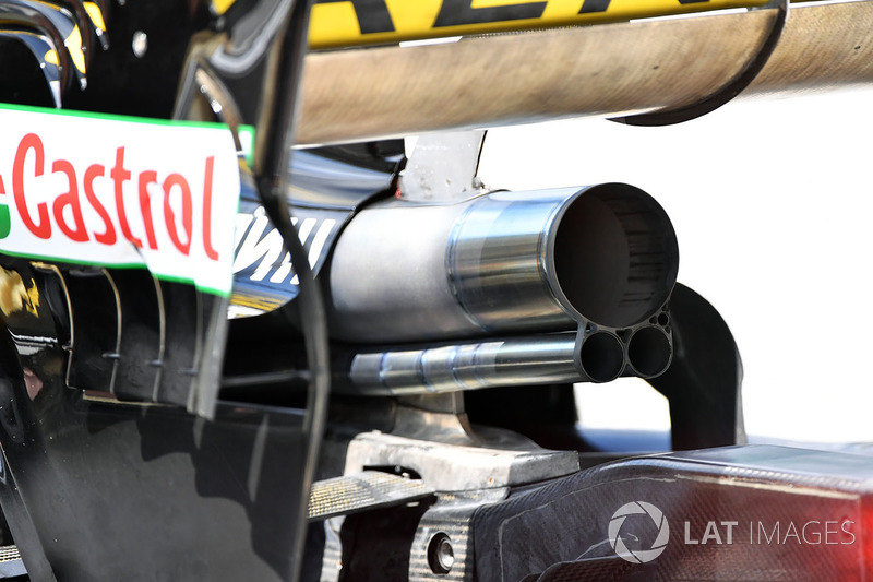 Renault Sport F1 Team R.S. 18 exhaust