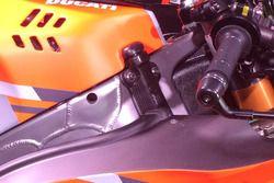 La manopola del gas della Ducati Desmosedici GP 18