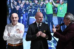 Armando Donazzan, Orange1 Racing eigenaar Giorgio Sanna, Head of Lamborghini Squadra Corse, en Franc