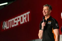 Matt Neal on the Autosport Stage