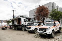 Trucks van de organisatie