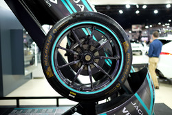 Jaguar Racing Formula E car wheel detail