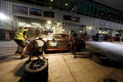 Pit stop, #777 MS7 by WRT Audi R8 LMS: Mohammed Bin Saud Al Saud, Michael Vergers, Dries Vanthoor, C