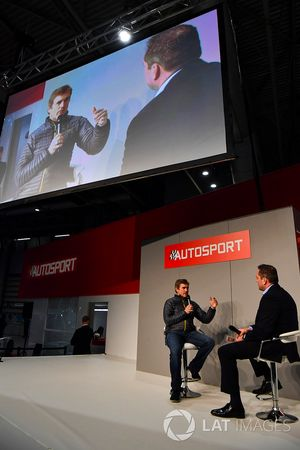 The 2000 Nascar champion Bobby Labonte talks to Henry Hope-Frost on the Autosport Stage