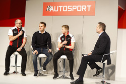 James MacNaughton, Dan Harper and Charlie Eastwood from Porsche talk to Henry Hope-Frost on the Auto