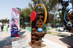 Sculptures at the Autodromo Hermanos Rodriguez