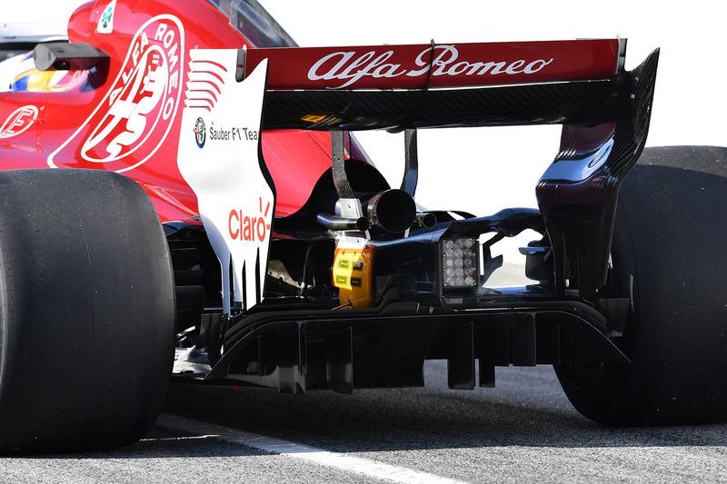 Marcus Ericsson, Alfa Romeo Sauber C37 rear detail