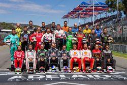 Gruppenfoto: Supercars-Fahrer 2018