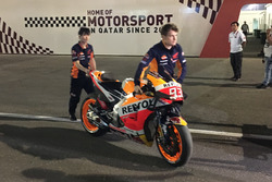 The bike of Marc Marquez, Repsol Honda Team after the crash