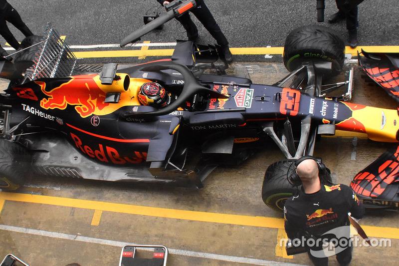 Max Verstappen, Red Bull Racing RB14 con una griglia di sensori aerodinamici