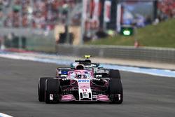 Sergio Perez, Force India VJM11, leads Valtteri Bottas, Mercedes AMG F1 W09