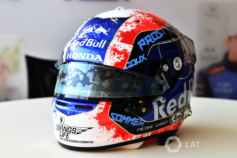 The helmet of Pierre Gasly, Scuderia Toro Rosso