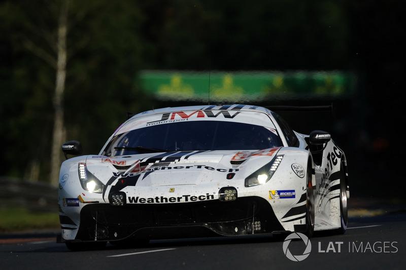 55: #84 JMW Motorsport Ferrari 488 GTE: Liam Griffin, Cooper MacNeil, Jeff Segal, 3'53.439