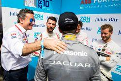 Il gruppo Superpole di Jérôme d'Ambrosio, Dragon Racing, Andre Lotterer, Techeetah, Mitch Evans, Jaguar Racing