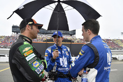 Hendrick Motor Sports crew chief Alan Gustafson, crew chief Greg Ives, and Alex Bowman, Hendrick Mot