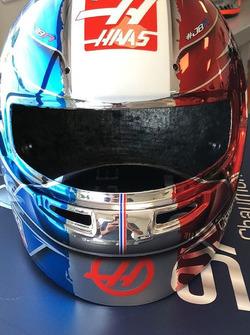 Speciale helm van Romain Grosjean voor de Grand Prix van Frankrijk