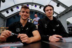 Autograph session, Keyvan Andres, Van Amersfoort Racing Dallara F317 - Mercedes-Benz, Artem Petrov, Van Amersfoort Racing Dallara F317 - Mercedes-Benz