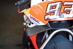 Des ailerons sur la moto de Marc Marquez, Repsol Honda Team