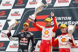 Podium: race winner Fabian Coulthard, DJR Team Penske Ford, third place Scott McLaughlin, DJR Team Penske Ford