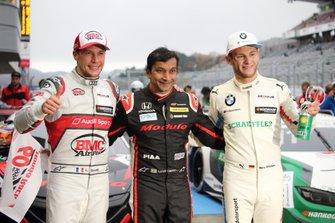 Top 3: Race winner Narain Karthikeyan, Nakajima Racing Honda NSX-GT, Marco Wittmann, BMW Team RBM BMW M4 DTM, Loic Duval, Audi Sport Team Phoenix Audi RS5 DTM