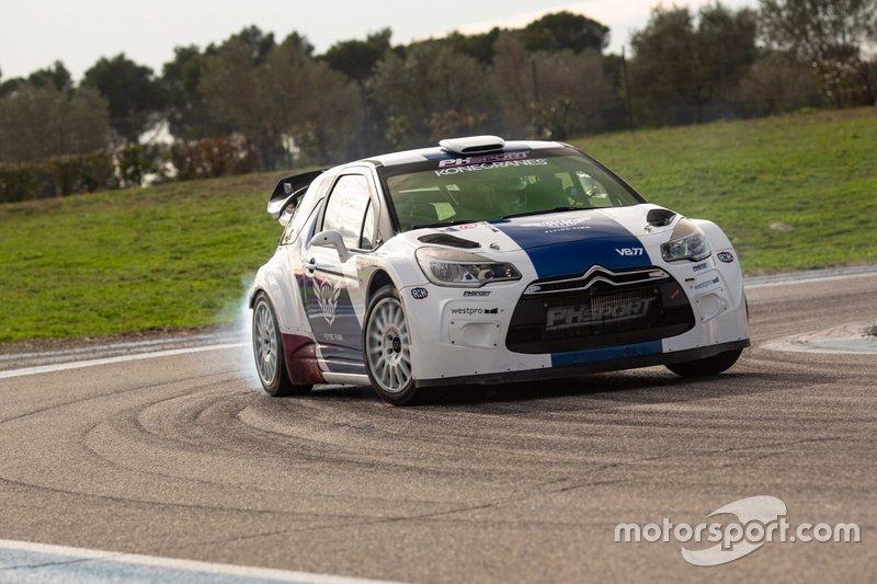 Валттери Боттас за рулем Citroën DS3 WRC