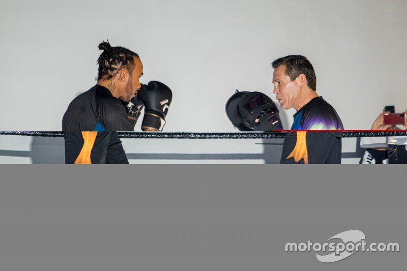 Lewis Hamilton, Mercedes and Julio Cesar Chávez, Former World Boxing Champion